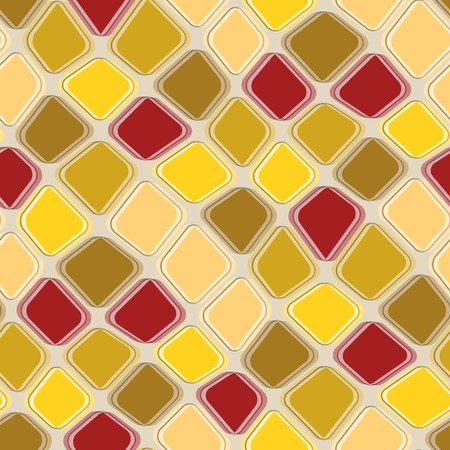 rugged: Seamless texture pattern with brown yellow rugged tiles Illustration