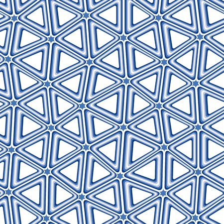 3d triangle: Blue 3d triangle tiles - seamless pattern Illustration