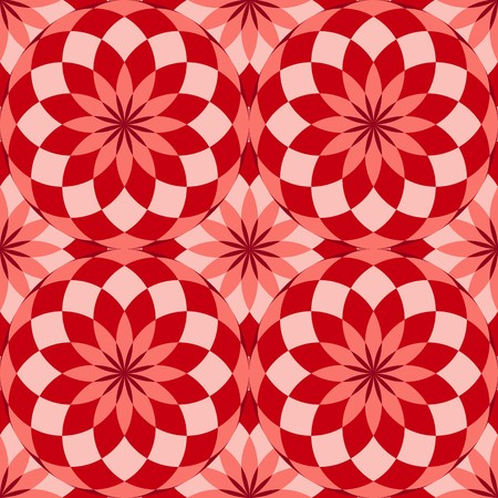tiles texture: Seamless texture with red circles and tiles