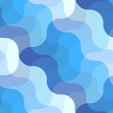 netting: Seamless abstract pattern with blue waves