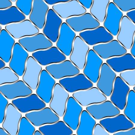 seamless tile: Retro blue seamless tile background on white