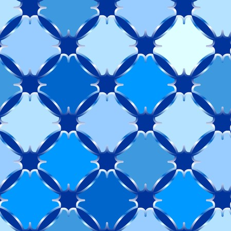tiles: Retro blue seamless tile background on white