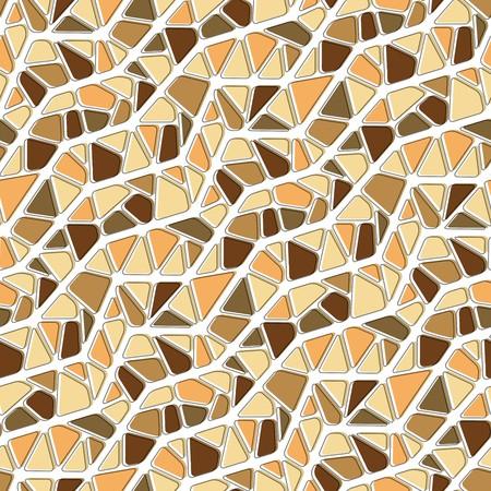 tiles texture: Seamless vector texture with brown yellow tiles