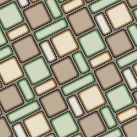 Seamless vector texture with brown green tiles.