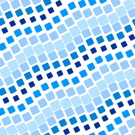 Seamless texture with blue rounded tiles on white