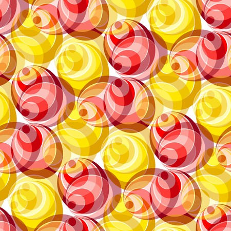 Seamless texture with hot colored circles and rings