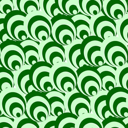 Seamless texture with green circles and rings Illustration