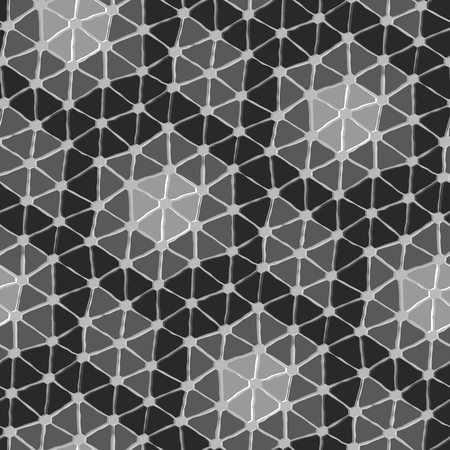 Seamless vector texture with grey triangle tiles