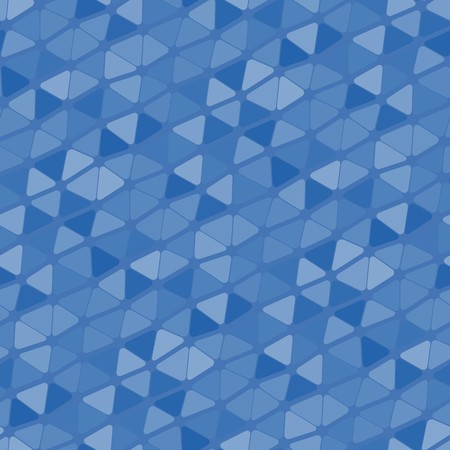 Seamless vector texture with blue triangle tiles
