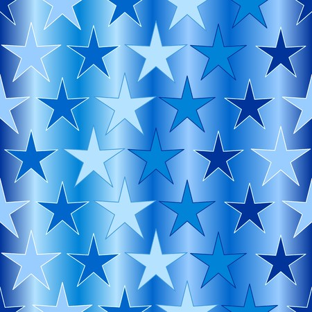 Seamless background with slue stars on white