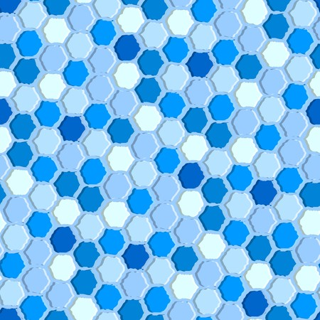 Blue tiles. Seamless pattern with blue hexagons