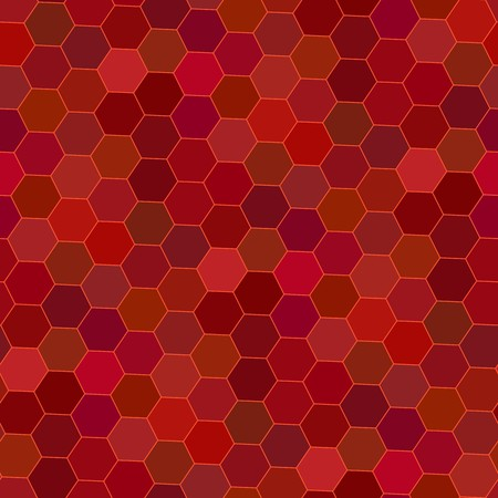 Blue tiles. Seamless pattern with red hexagons