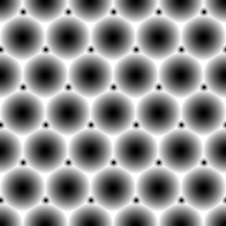 Retro uncolored seamless background with circle tiles