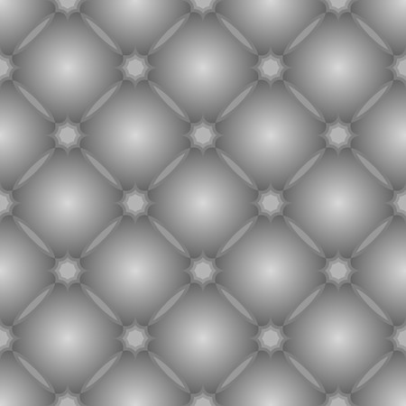 Grey pattern with tufted leather texture. Seamless background