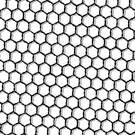 Modern stylish pattern of hexagon mesh. Repeating abstract background