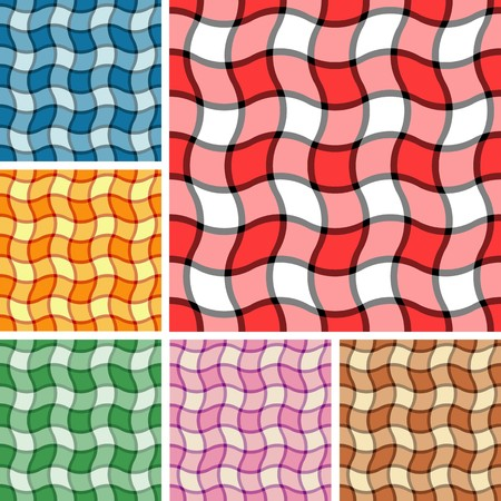 Big collection of seamless plaid patterns