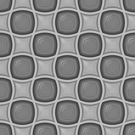 Seamless pattern with uncolored tiles on grey