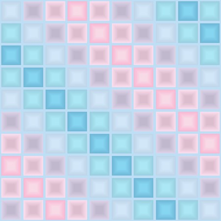Seamless vector 3d pattern with motley tiles