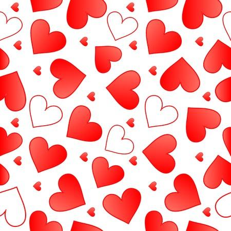 Seamlessly vector wallpaper valentine with hearts Reklamní fotografie - 100381526