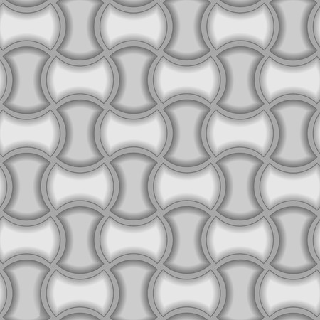 Seamless 3d vector pattern with tiles Illustration