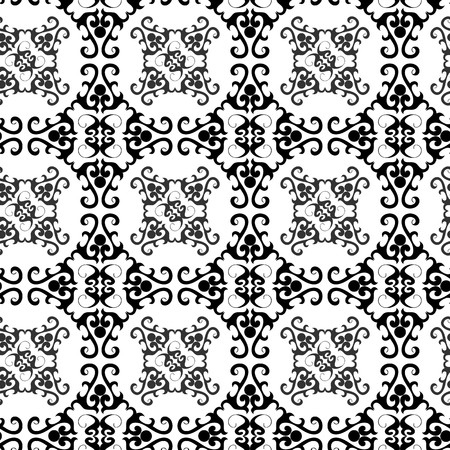Seamless black ornament vector pattern Ilustrace