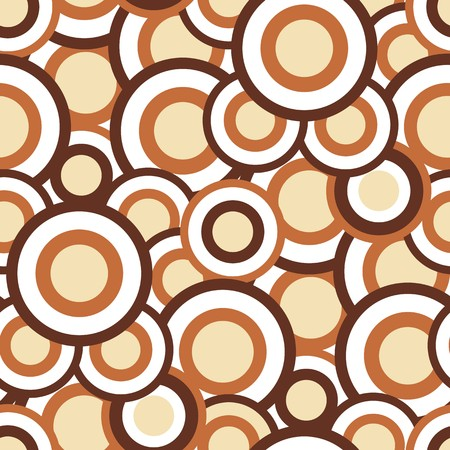 Seamless texture with brown circles Vectores