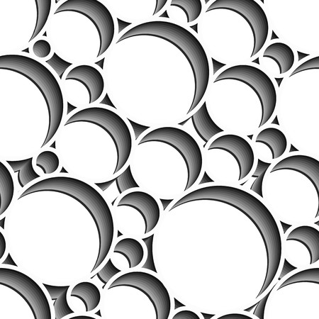 Seamless pattern with grey circles on white