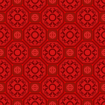 Seamless tile pattern with ornament