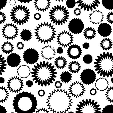 Seamless vector texture with abstract circles on white Illustration