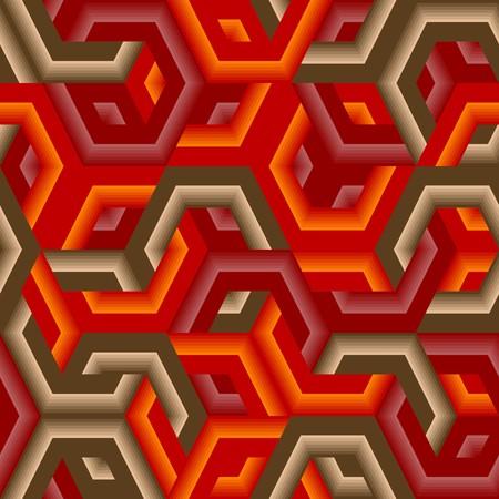 Retro vivid seamless hexagon background