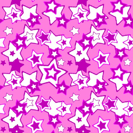Seamless vector texture with stars on white Illustration