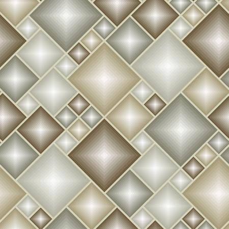 Brown tiles - seamless vector pattern