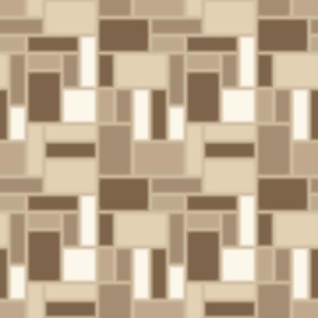 Brown tiles - seamless vector pattern Vettoriali