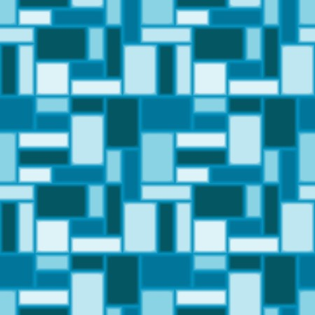 Seamless pattern with blue tiles Illustration