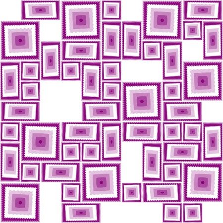 Seamless pattern with violet tiles
