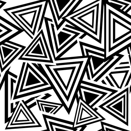 Retro black and white seamless triangle background Illustration