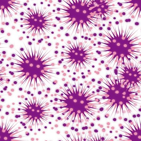 Seamless art dandelion violet pattern