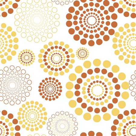 Seamless vector texture with circles Vettoriali