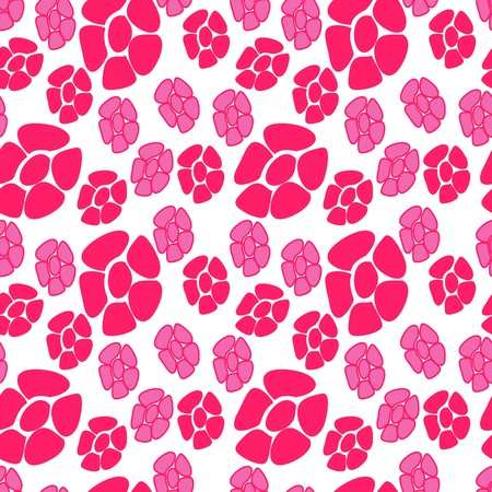 Red seamless flower background pattern