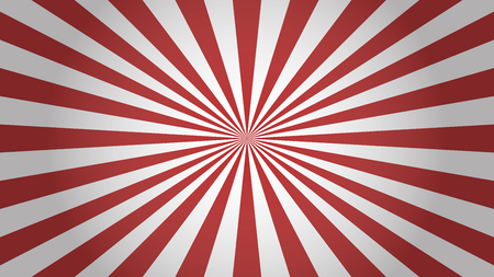 Red rays background. Sunburst abstract texture. Simple design vector illustration.