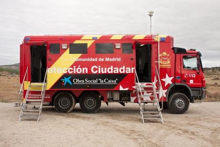 Madrid, cami�n de bomberos para la prevenci�n de los incendios forestales