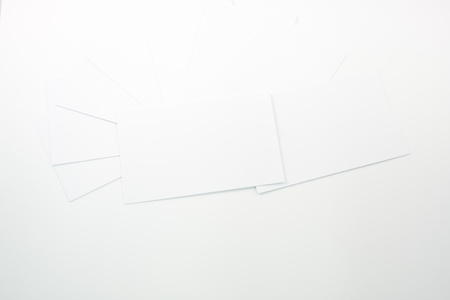 business card scattered on the floor with white background