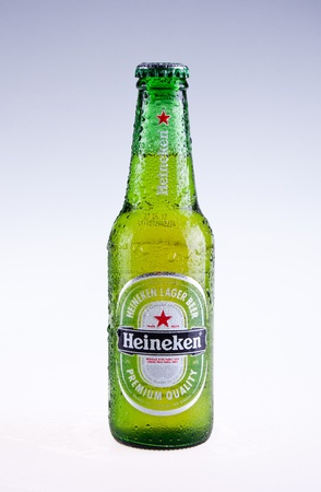 Heineken beer isolated on white background