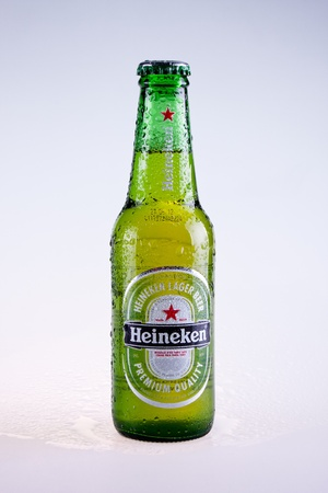 Heineken beer isolated on white background