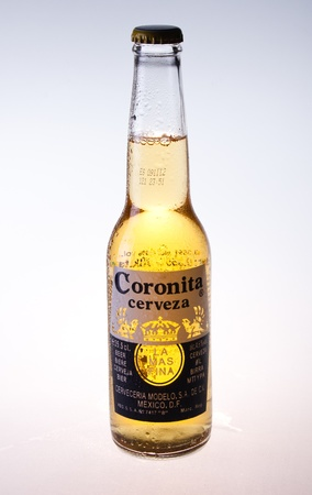 Coronita beer isolated on white background