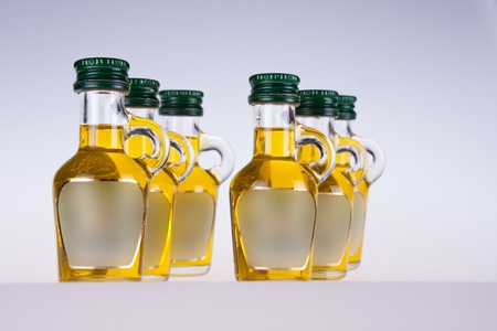 extra virgin olve oil isolated on white background photo