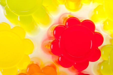 colored fruit jelly on white background Stock Photo