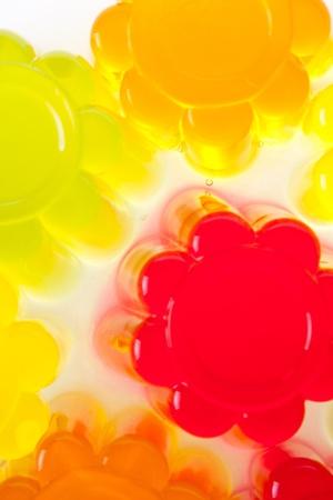 gelatine: colored fruit jelly on white background Stock Photo