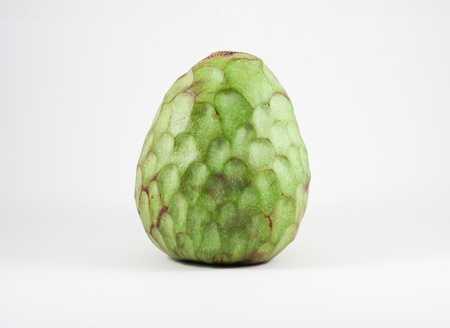 chirimoya: A Custard apple isolated on white background
