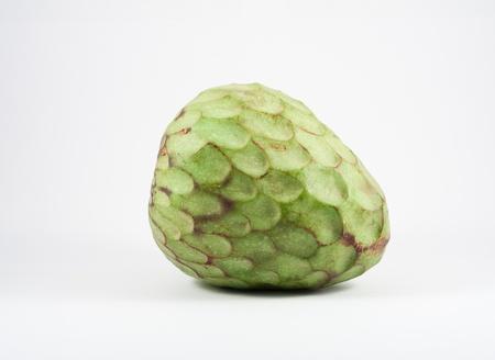 chirimoya: A Custard apple isolated on white background